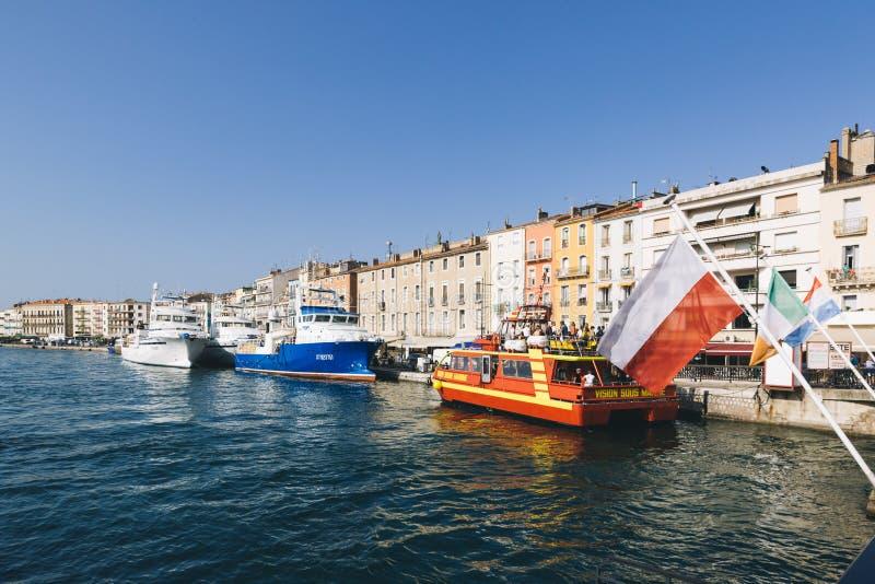 Le port de Sete, France image libre de droits