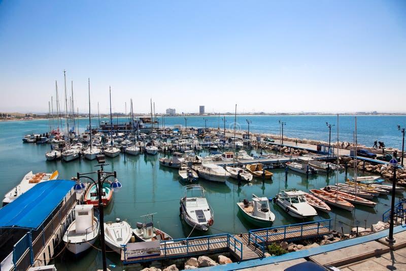 Le port historique d'Akko, Israël photo libre de droits