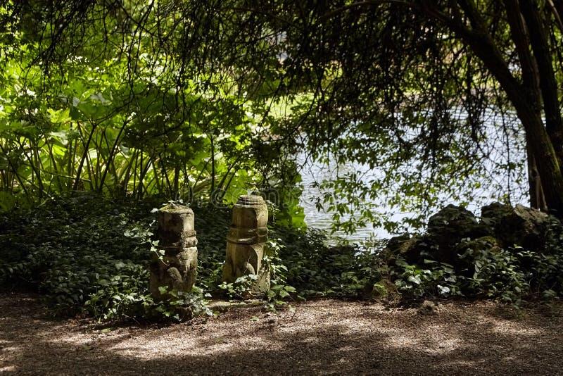 The Chateau de Monte-Cristo Park of Alexandre Dumas, garden in the English style royalty free stock photo