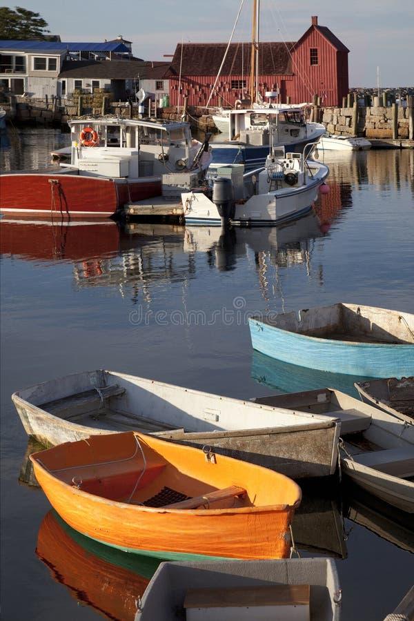 Le port Rockport, le Massachusetts image stock