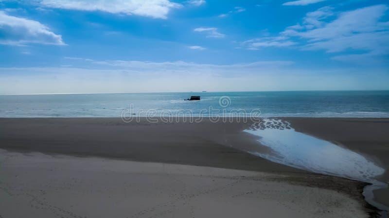 Le Portel beach stock photo