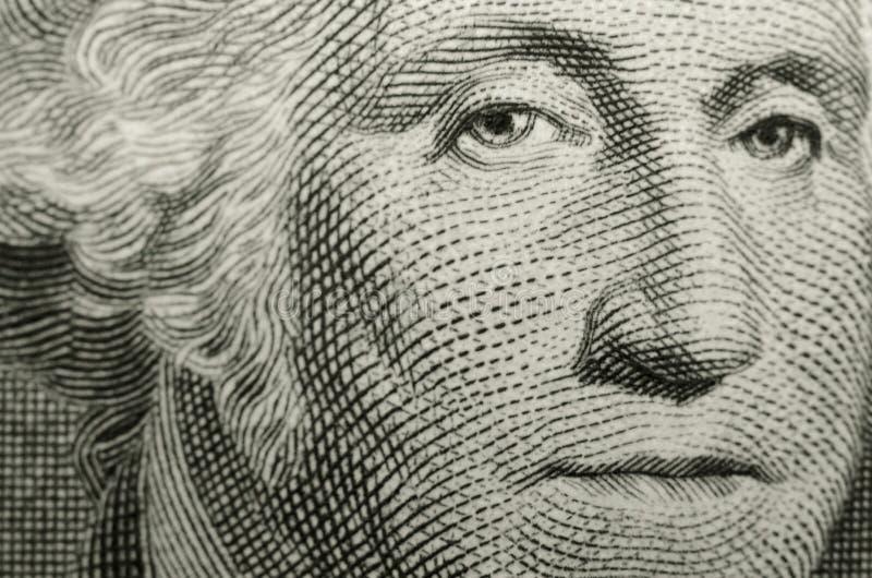 Le portrait de Gilbert Stuart du père fondateur américain, George Washington, des USA un billet d'un dollar photo stock