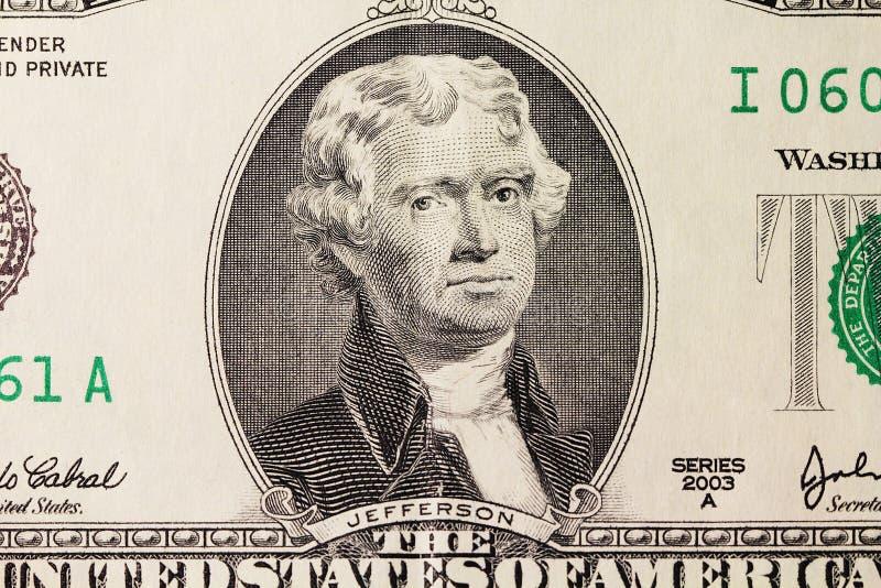 Download Le Portrait De Jefferson Sur Le Dollar Image stock - Image du jour, image: 77163113