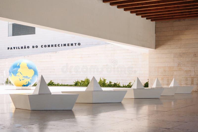 Le Portugal, Lisbonne le 29 avril 2018 : pavillon de la connaissance ou de musée interactif de la Science images libres de droits