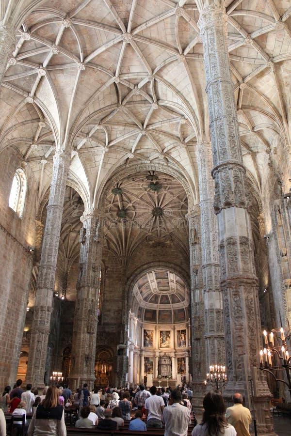 Le Portugal, Lisbonne : Monastère de Jeronimos Le monastère de Jeronimos Hieronymites est situé dans le secteur de Belem de Lisbo photo libre de droits