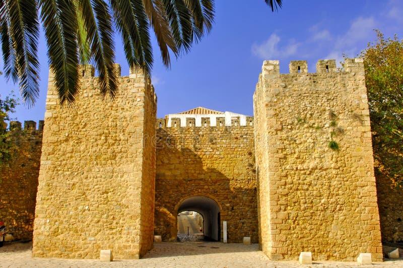 Le Portugal, région d'Algarve, Lagos : Vieille forteresse image libre de droits