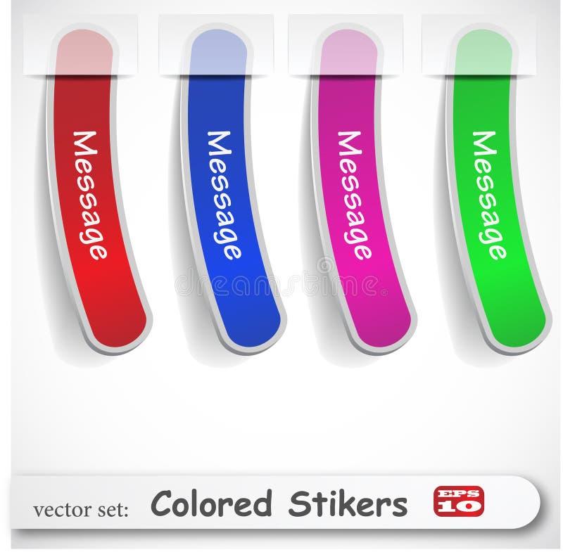 Le positionnement coloré abstrait de collant illustration de vecteur