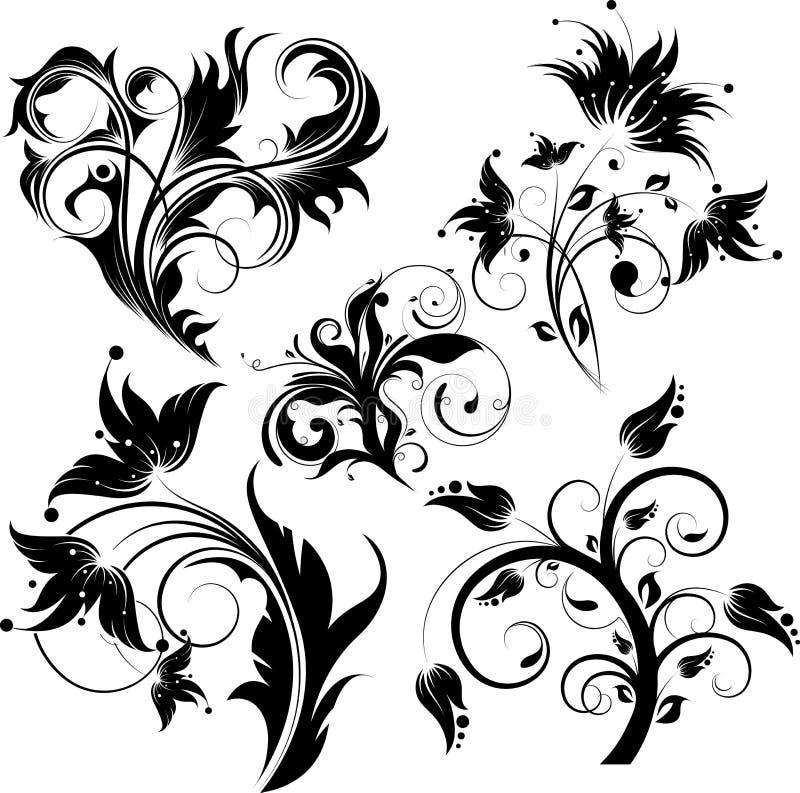 Le positionnement du fond floral abstrait. illustration libre de droits