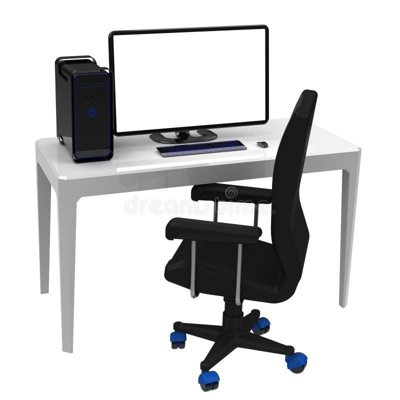 le poste de travail bureau images libres de droits image 31274339. Black Bedroom Furniture Sets. Home Design Ideas