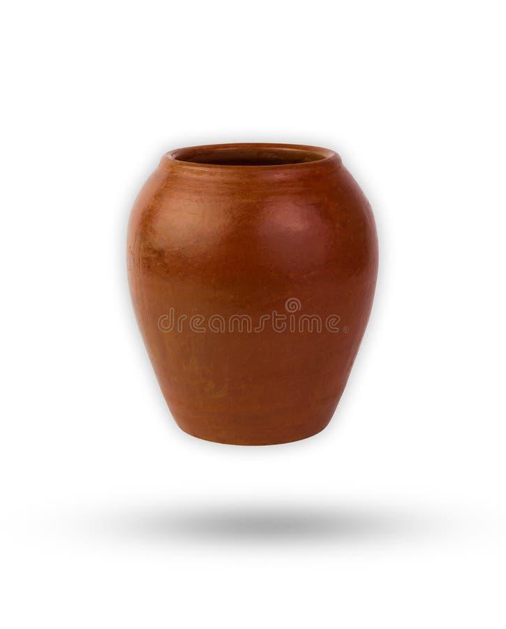 Le pot ou le pot est un genre de poterie avec le chemin de coupure photos libres de droits