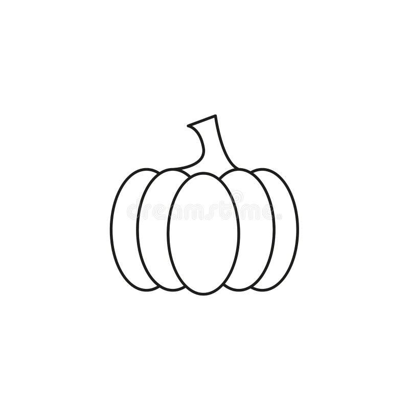 Le potiron de l'icône helloween le mal illustration libre de droits