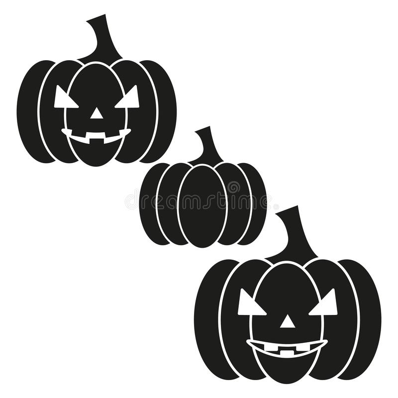 Le potiron de l'icône helloween le mal illustration de vecteur