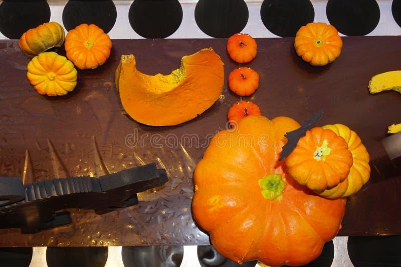 Le potiron a formé les chocolats gastronomes de stock de Patrick Roger à Paris photo stock