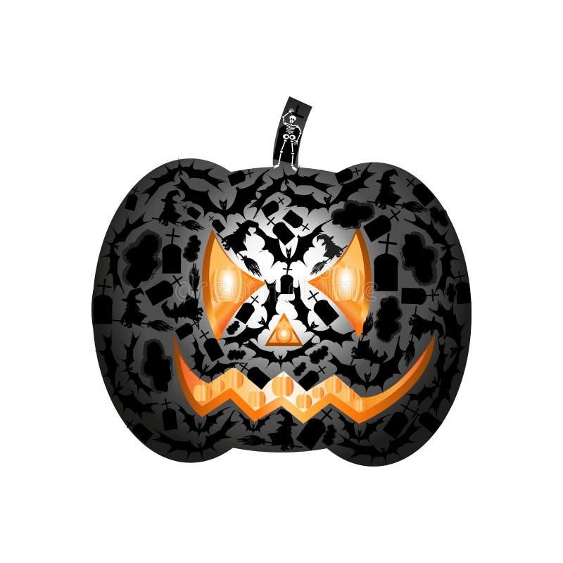 Le potiron Halloween créent photo libre de droits