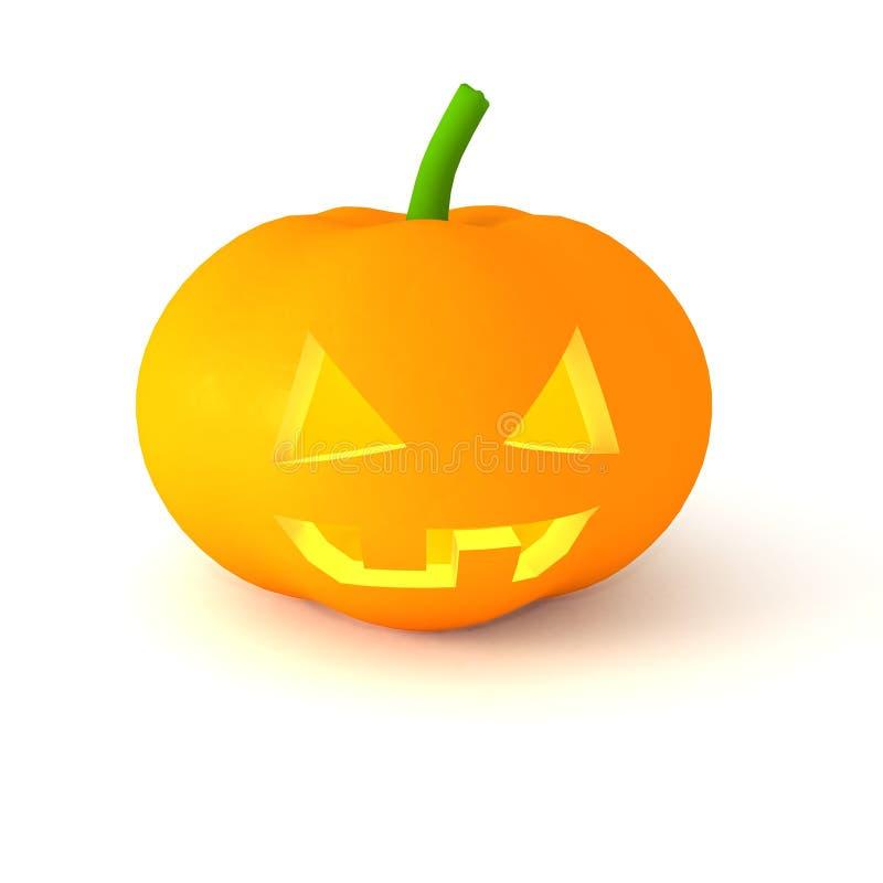 Le potiron orange de Veille de la toussaint illustration stock
