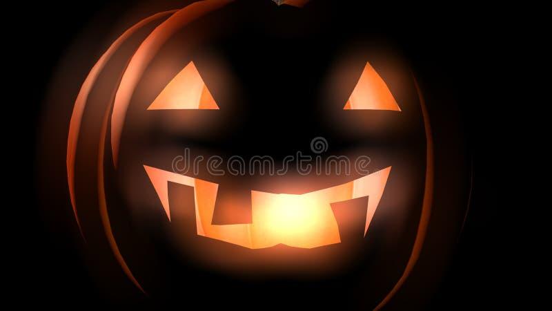 Le potiron rougeoyant 3D de Halloween rendent photographie stock libre de droits