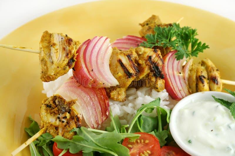 Le poulet Tandoori embroche 1 photos stock