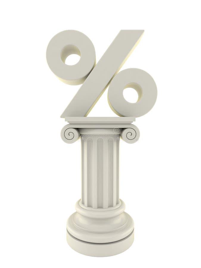 Le pourcentage se connectent le pilier illustration libre de droits