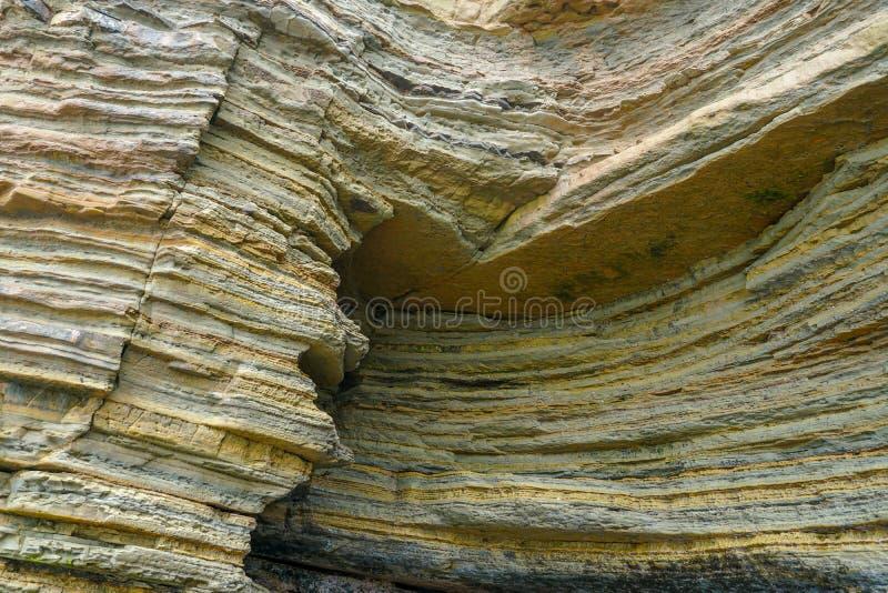 Le pozze di marea del Point Loma Strati di roccia nell'arenaria di area di pozza di marea, parte del Cabrillo Monume nazionale fotografia stock