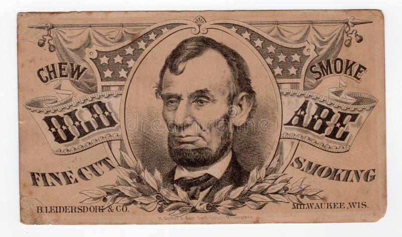 Le Président Abraham Lincoln Vintage Old Advertisement photo stock