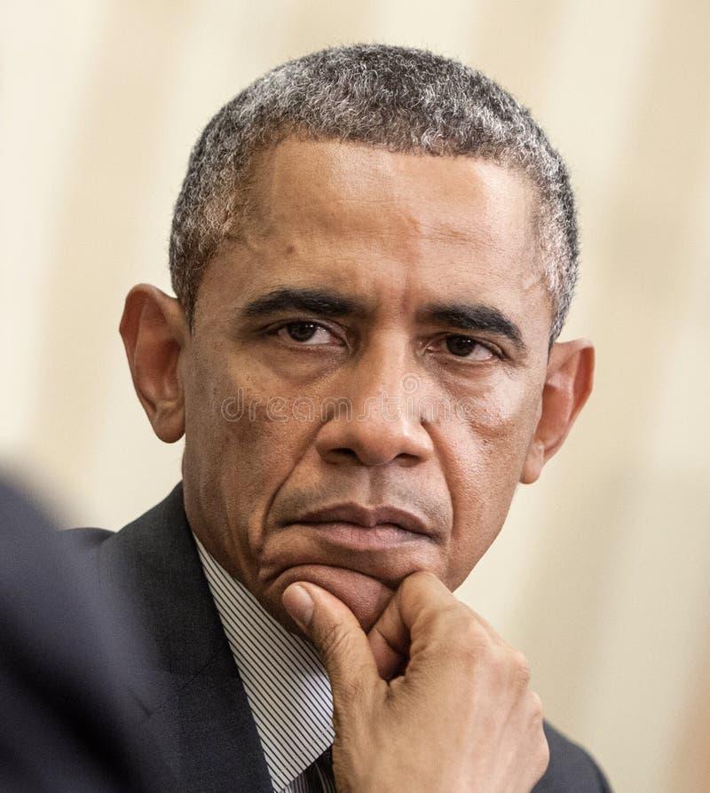 Le Président Barack Obama des Etats-Unis photographie stock