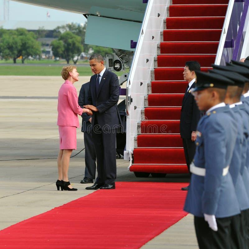 Le Président Barack Obama des USA image libre de droits