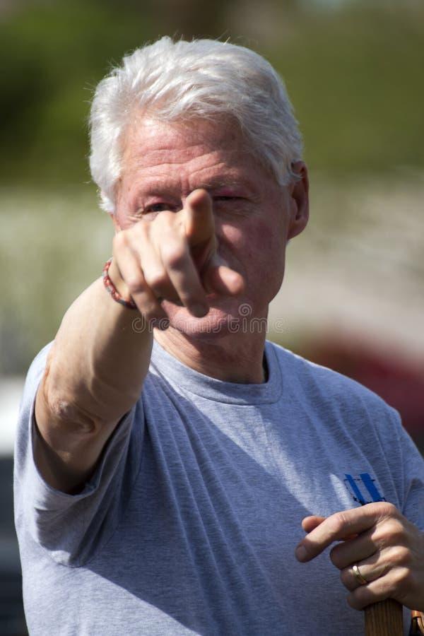 Le Président Bill Clinton des Etats-Unis photo libre de droits