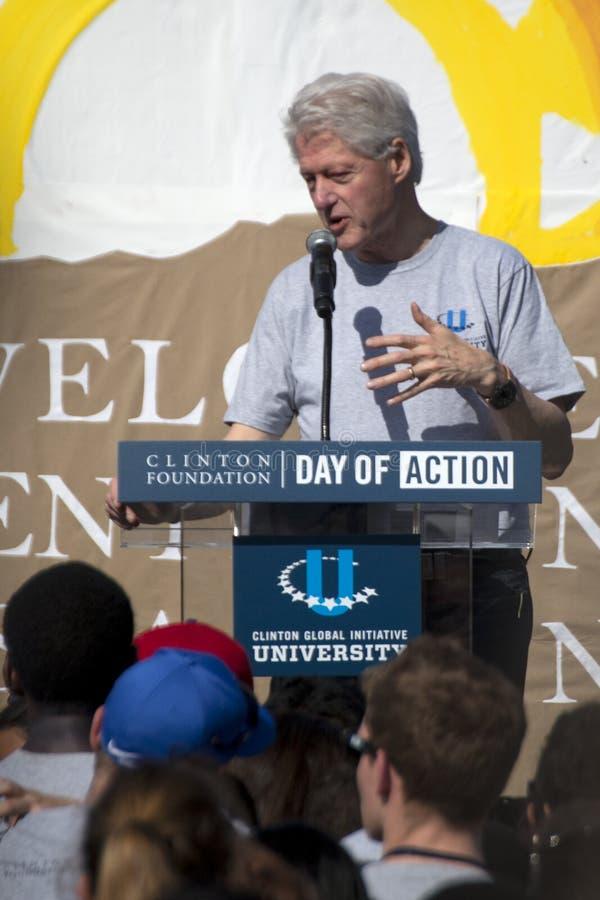 Le Président Bill Clinton des Etats-Unis image libre de droits