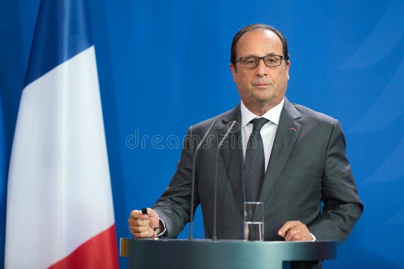 Le Président français Francois Hollande photos libres de droits