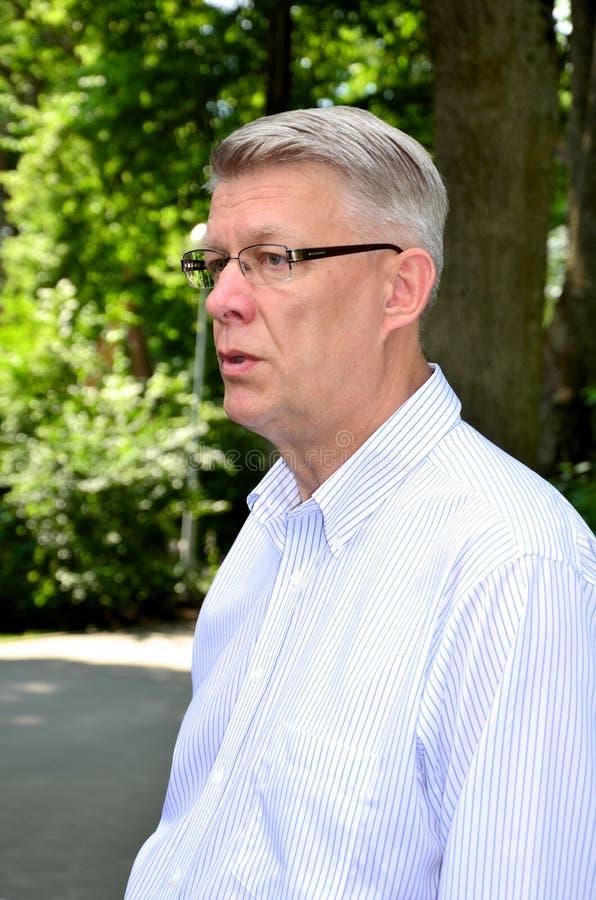 Le Président letton Valdis Zatlers à son adieu m photos stock