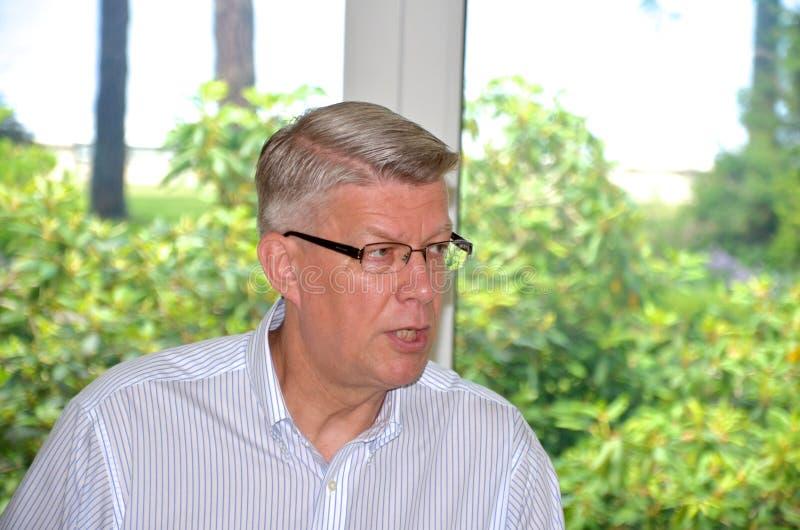 Le Président letton Valdis Zatlers à son adieu m image libre de droits