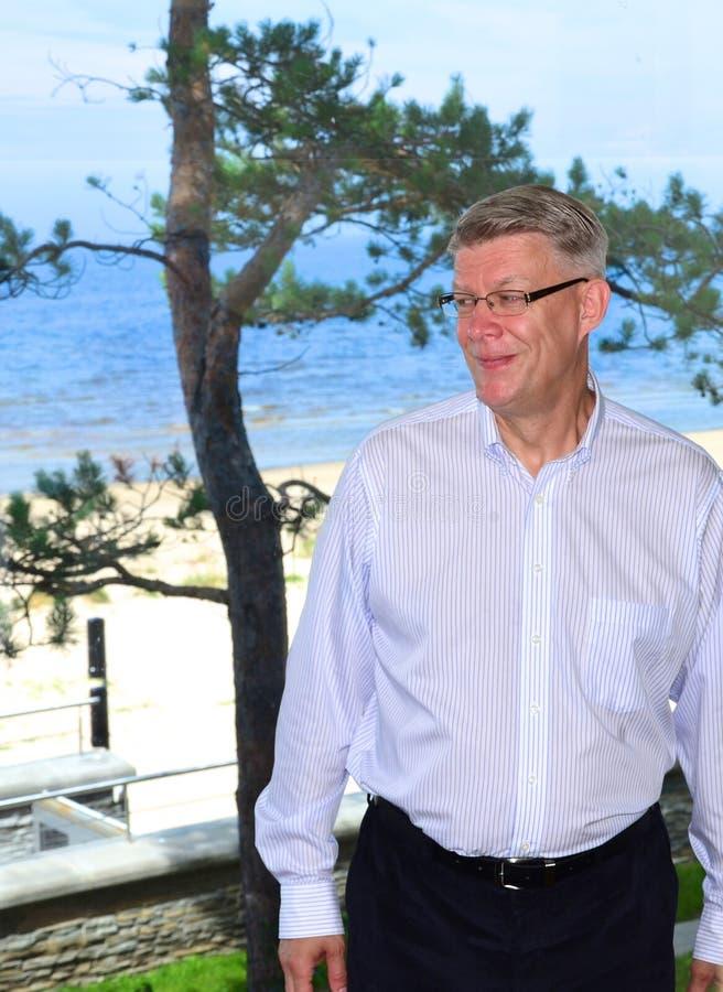 Le Président letton Valdis Zatlers à son adieu m photos libres de droits