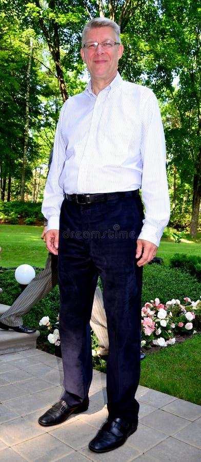 Le Président letton Valdis Zatlers à son adieu m photographie stock libre de droits