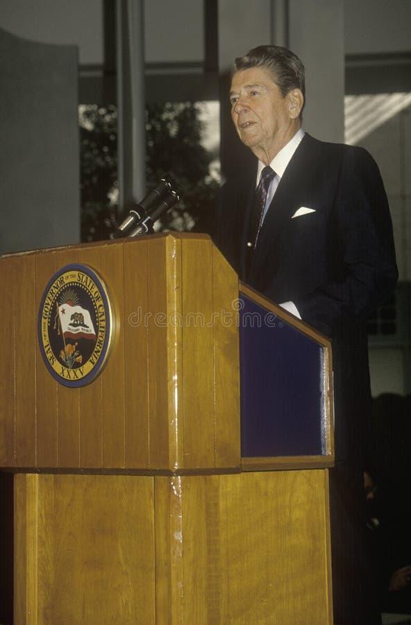 Le Président Reagan images libres de droits
