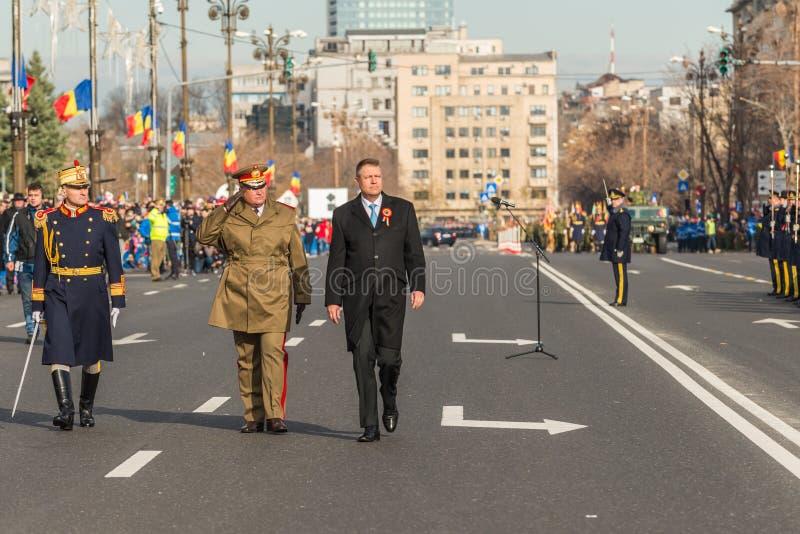 Le Président roumain Klaus Johannis images libres de droits
