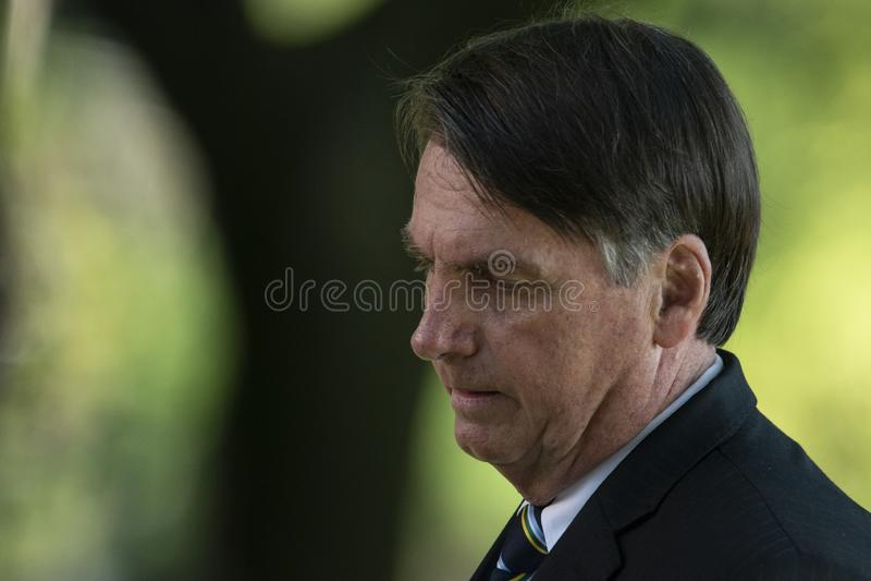 Le Pr?sident br?silien Jair Bolsonaro image stock