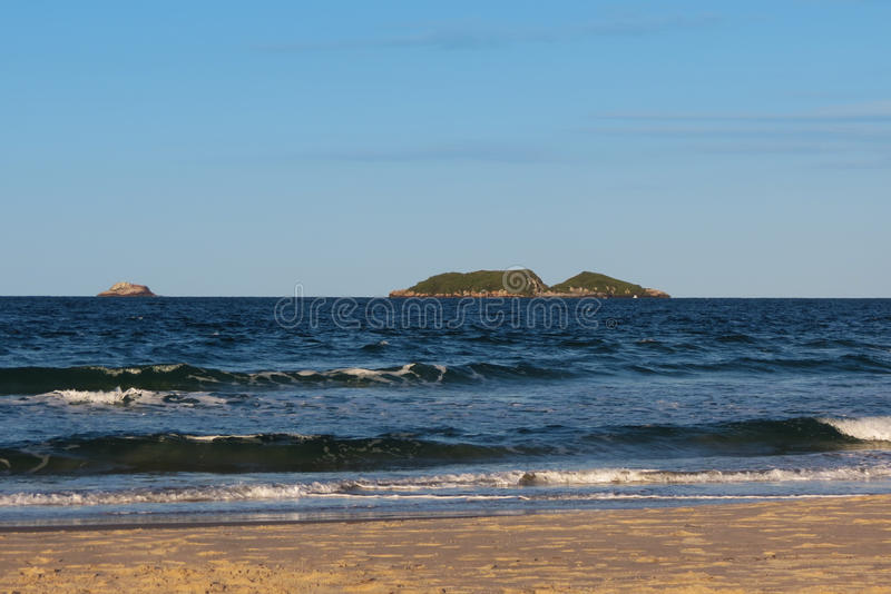 Le Praia des polis font de Santinho - de Florianà ³, Santa Catarina - Brésil images libres de droits