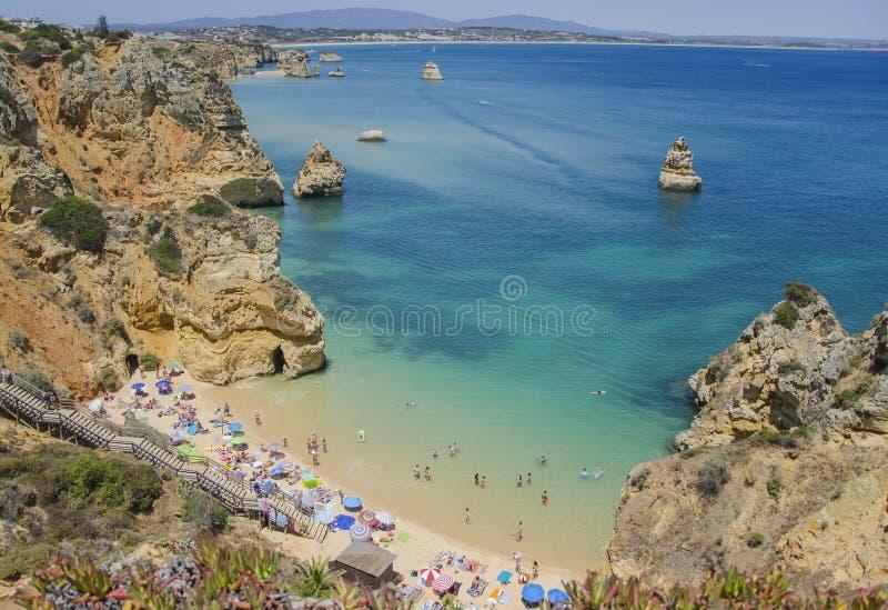 Download Le Praia Font Camilo - Lagos Dans Algarve, Portugal Photographie éditorial - Image du parapluie, océan: 56476022