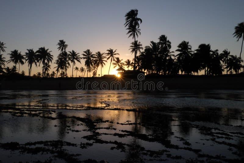 Le Praia font le forte - Bahia, Brésil images stock