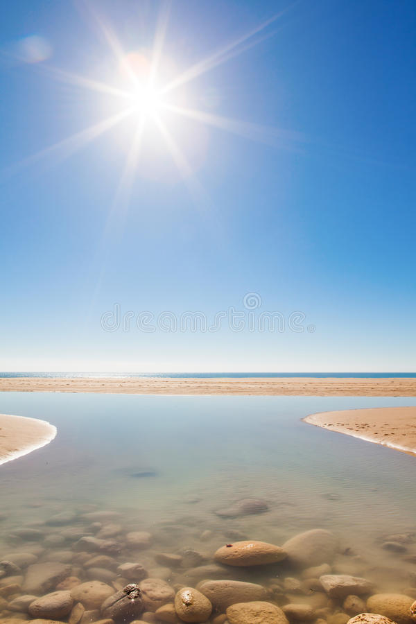 Le Praia font Porto de Mós, Lagos, Algarve photos libres de droits