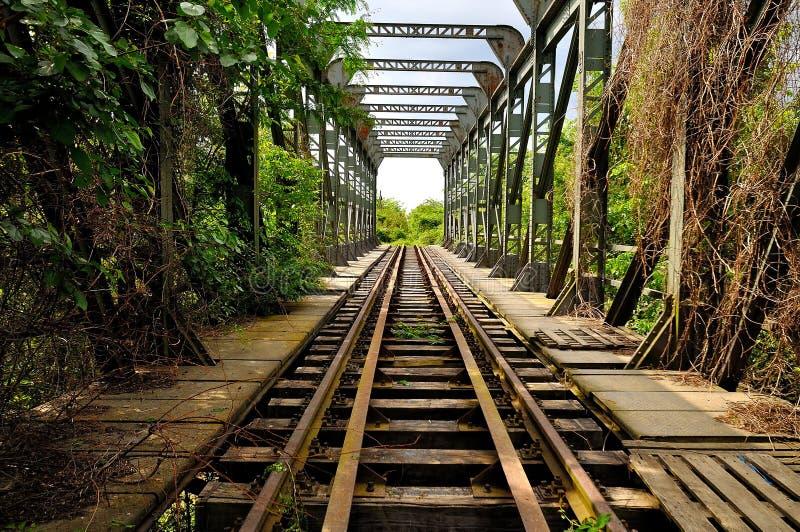 Le premier chemin de fer en Roumanie Bucuresti-Giurgiu photo stock