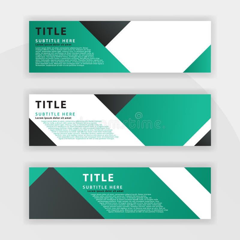 le premier ensemble de Benner est couleur vert-foncé, approprié aux sociétés professionnelles a conçu pour être en ligne comme de illustration stock