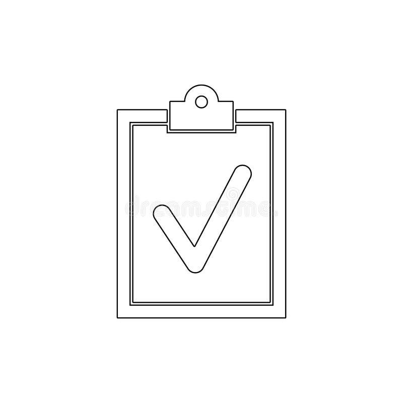 Le presse-papiers font l'icône d'ensemble de liste de document Des signes et les symboles peuvent ?tre employ?s pour le Web, logo illustration libre de droits