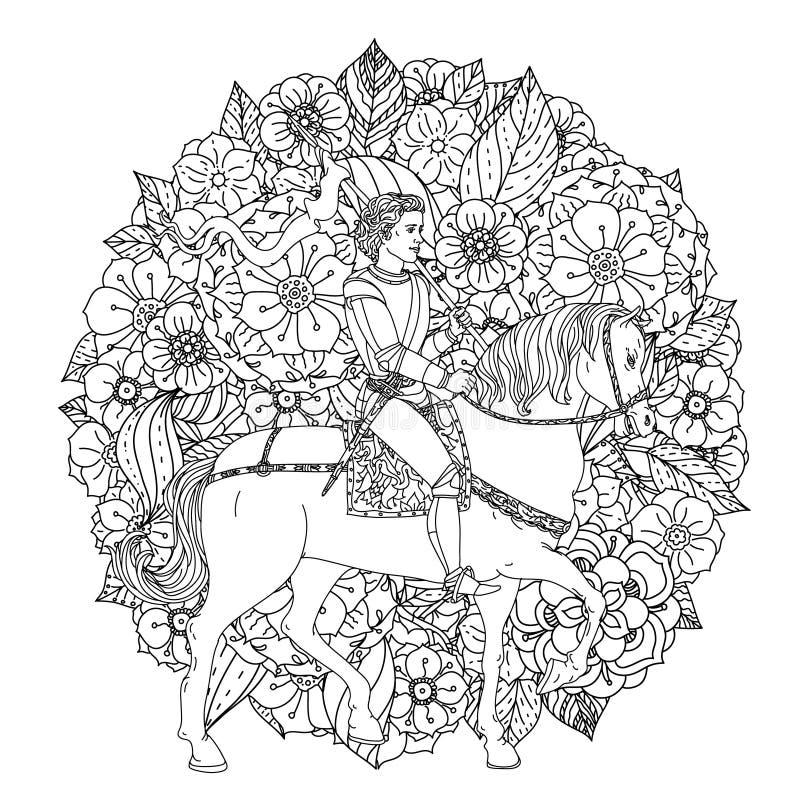 Le prince d'un conte de fées illustration stock