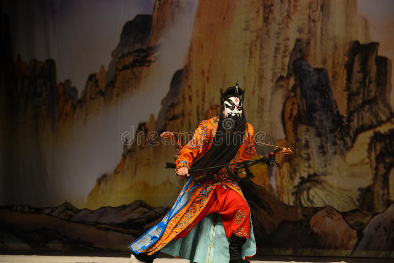 """Le prince des généraux de femmes de Xixia- Pékin Opera"""" de  de € de Yang Familyâ photographie stock"""