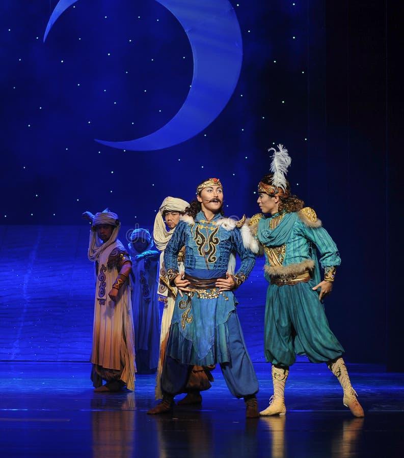 Le prince et son ballet de barbe-Hui d'associé musardent au-dessus de Helan photos stock