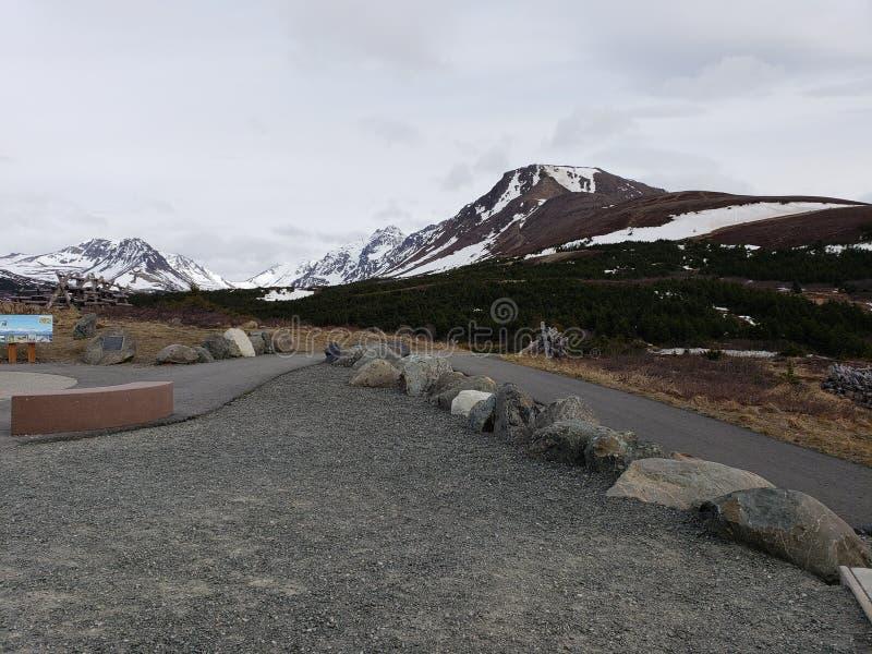 Le printemps 2018 de montagne de surface plane photographie stock libre de droits