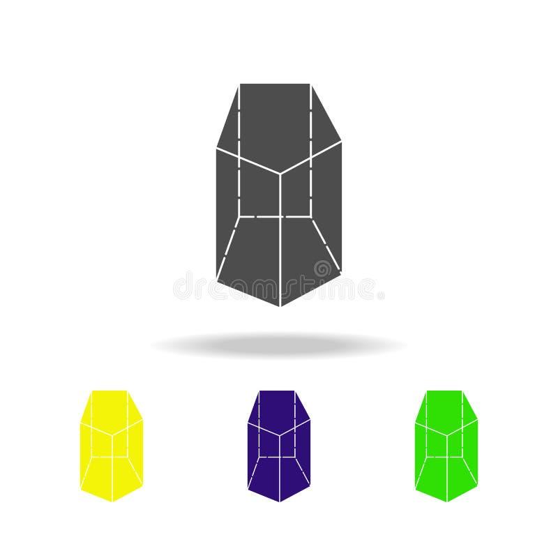 le prisme a coloré des icônes Les éléments de la figure géométrique ont coloré des icônes Peut être employé pour le Web, logo, l' illustration stock