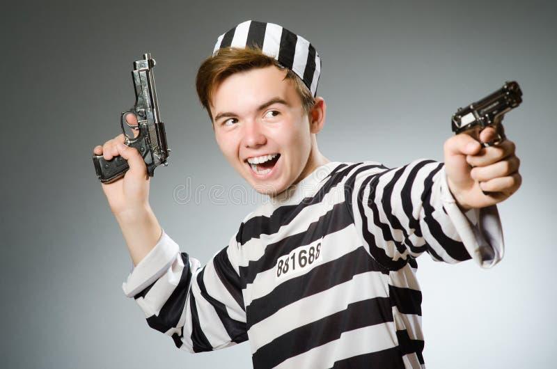Le prisonnier drôle dans le concept de prison photo libre de droits