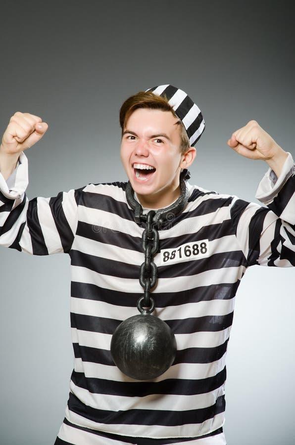 Le prisonnier drôle dans le concept de prison images libres de droits